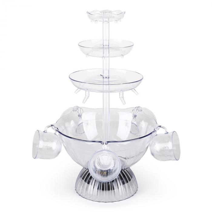 Proseccano partyfontän 3L LED-dryckesfontän 5 bägare
