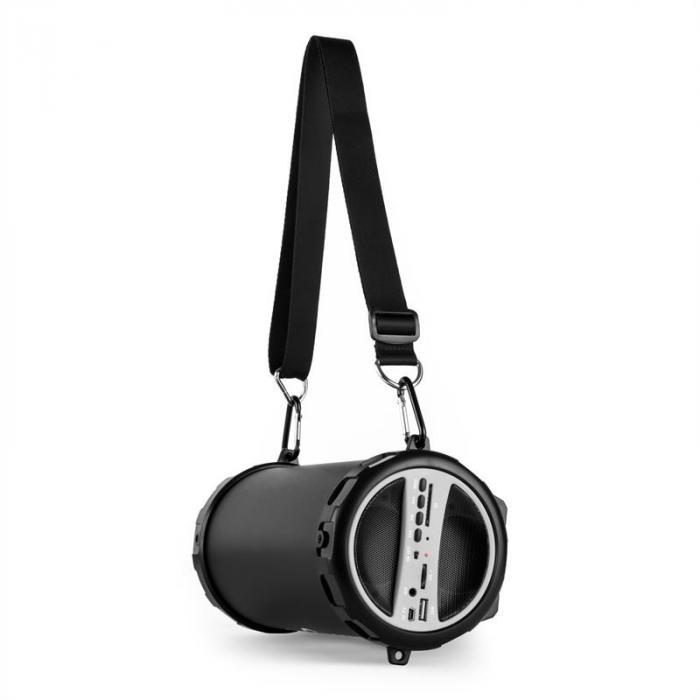 Dr. Beat 2.1 Bluetooth-kaiutin USB SD AUX akku hopea