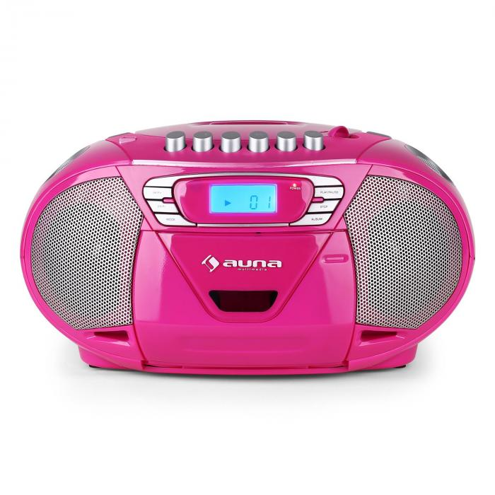 KrissKross radio portatileUSB MP3 rosa