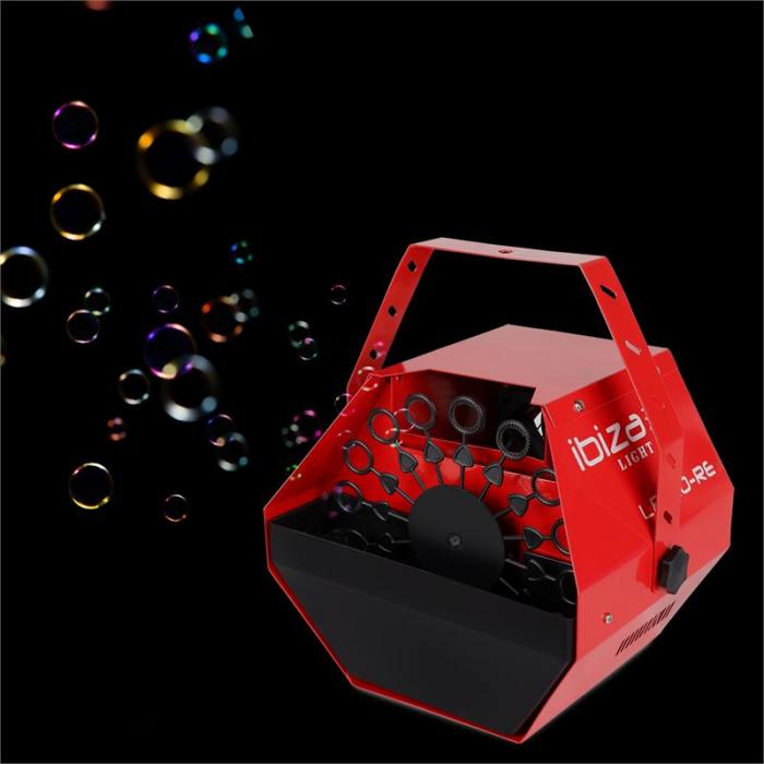 Light LBM-10 Party Seifenblasen Maschine Bubbles rot