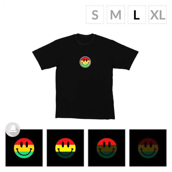 LED-Shirt Color Smiley Größe L