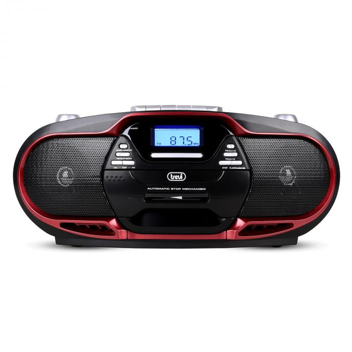 CMP-574 Boombox CD MP3 USB Cassette Player AM / FM Radio Red