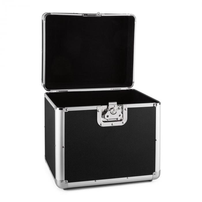 Zeitkapsel Aluminium-Plattenkoffer Vinyl-Case 70 Stück LP schwarz