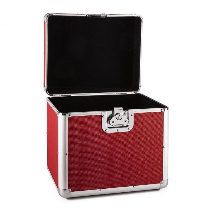 Time Capsule Aluminium 70 Vinyl Transport Case Red