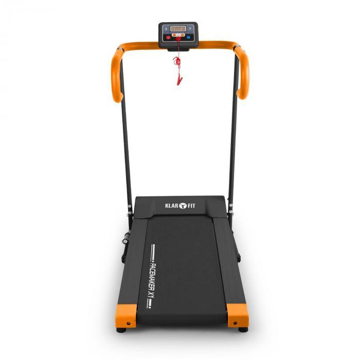 Pacemaker X1 juoksumatto 10 km/h harjoitustietokone musta/oranssi