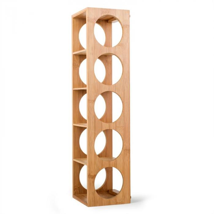 Rack No. 3 bambuinen viiniteline pinottava