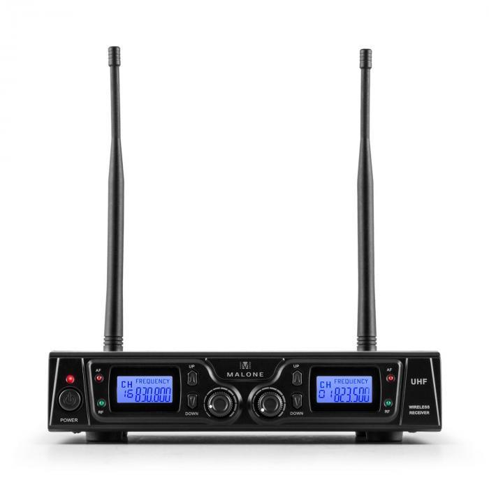 Duett Pro V3 2-kanava FM-radiomikrofonisetti 50m kantama