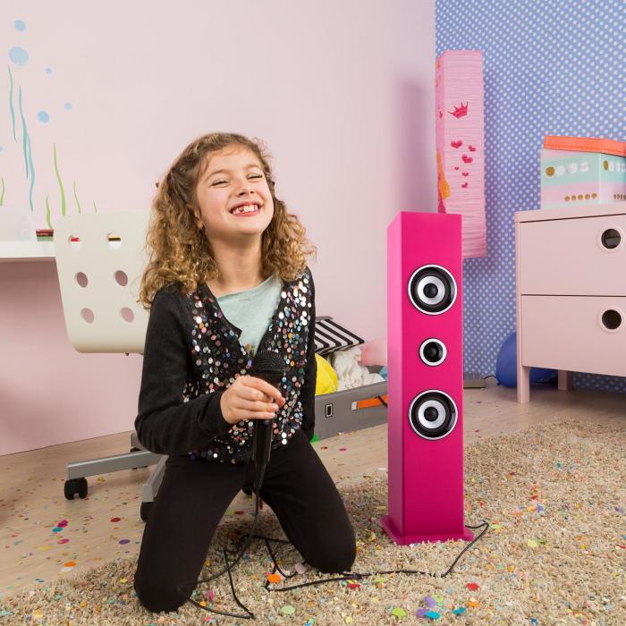 Karaboom Bluetooth Speaker Karaoke 2 Microphones Set Pink
