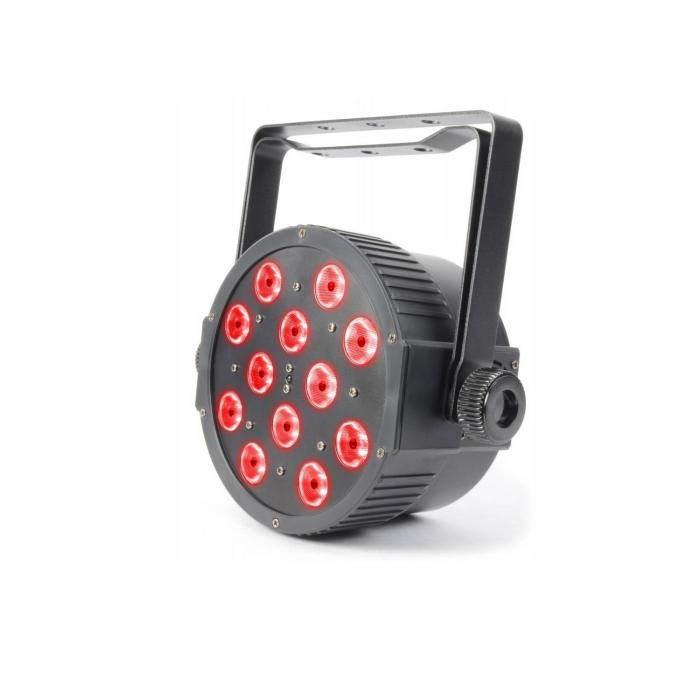 Faretto FlatPAR 12x 3W Tri-color LED DMX IR Telecomando Incluso