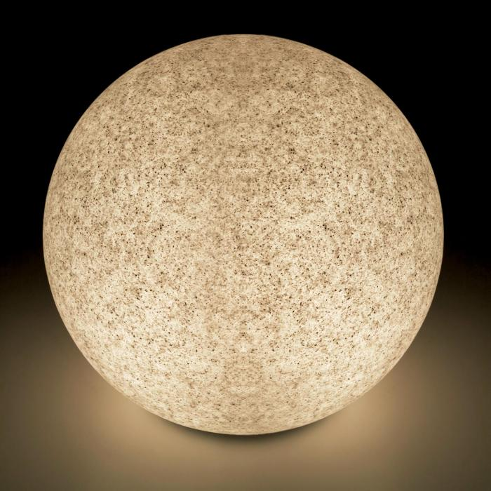 Shineball M Globe Lamp Outdoor Garden Light 40cm Stone Look