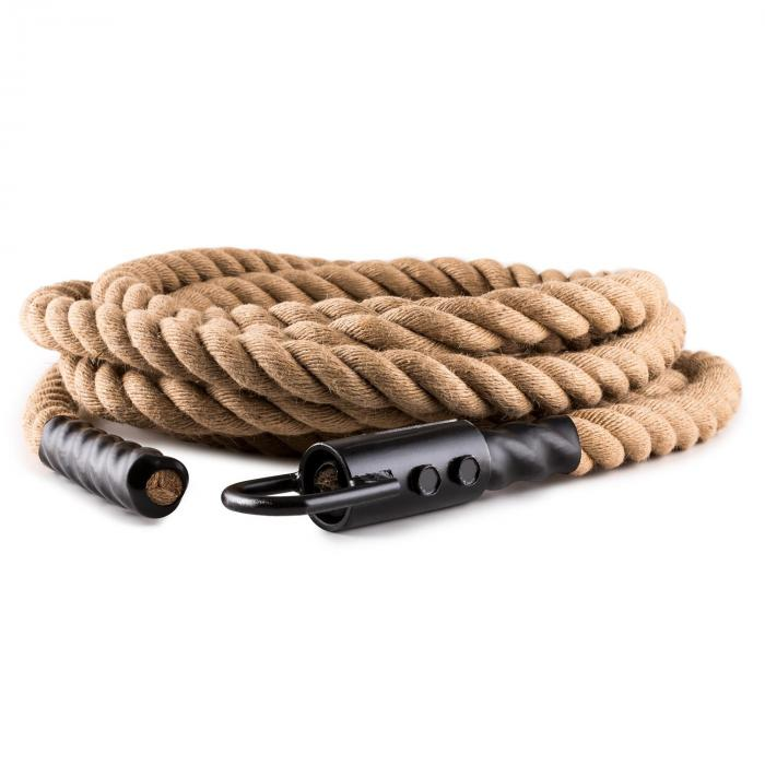 Power Exercise Rope with Hook 15m 3.3cm Hemp Ceiling Mounting