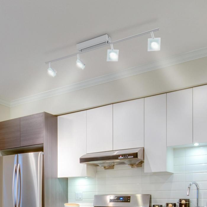 Vegard 4 Rotating Swivelling Chrome-Plated LED Spotlight Lamp 4 x 5W 400 lm