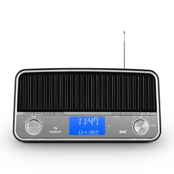 Nizza Radio Bluetooth DAB+ Retrò 2.1 Subwooferm Nero