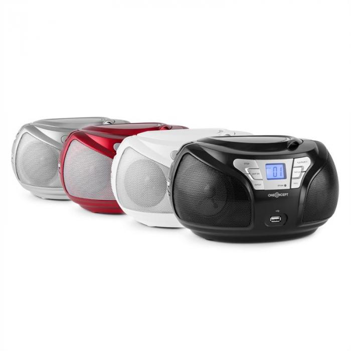 Groovie RD Boombox Bluetooth CD MP3 Rosso