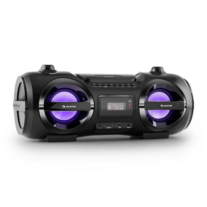 Soundblaster M Boombox Bluetooth 3.0 CD/MP3/USB UKW LED 50W max.