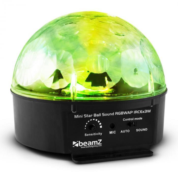 Starball Effetto luce LED 6x RGBWAP 25W Nero