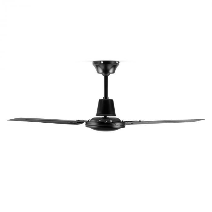 Spin Doctor Ventilatore da Soffitto 122cm 55W 3 Pale Acciaio Nero