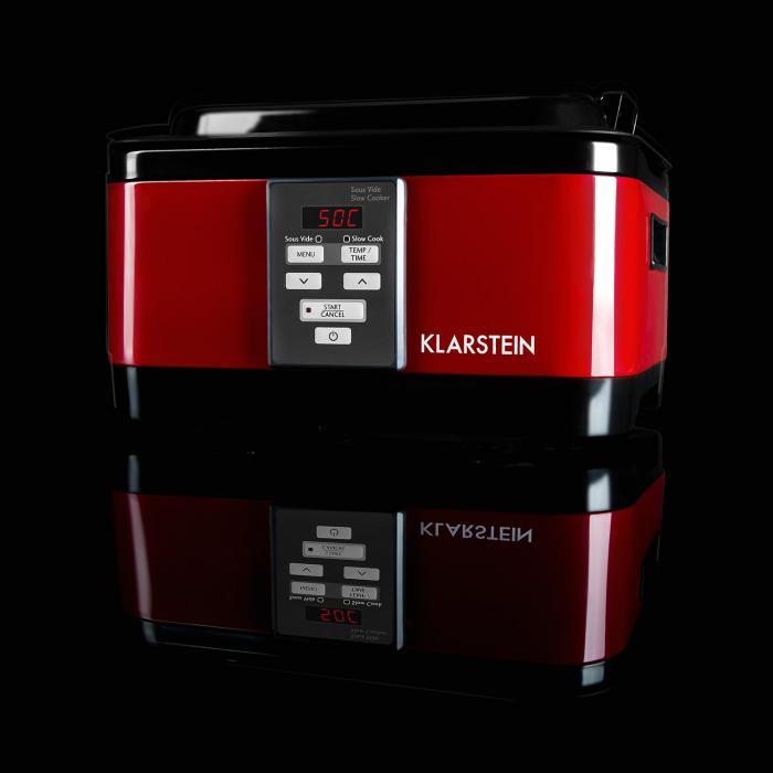Tastemaker Sous-vide Garer Slow Cooker 6l 550 W Edelstahl rot