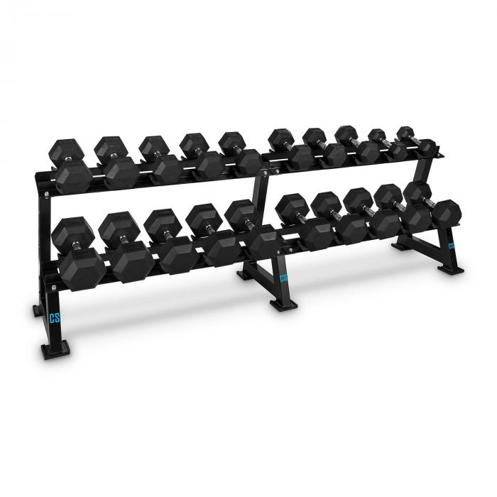 Bellbed Dumbbell Rack käsipainoteline 20 painolle musta