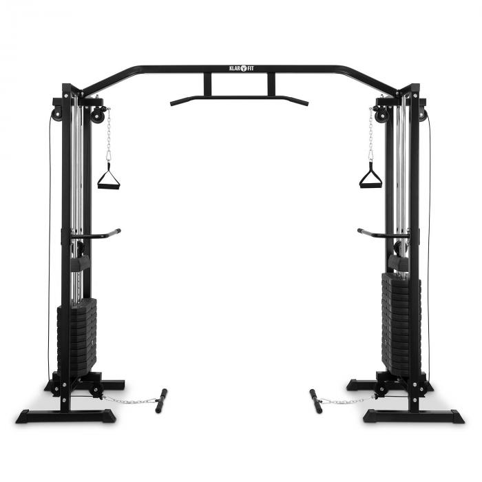 Cablefit Cable Pull Station Multi-Gym Black Steel 2 x 170lb