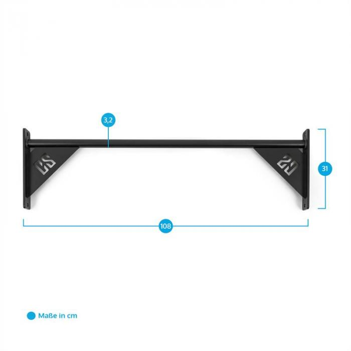 Single Bar 108 Chin-up Pull-up Bar 108 cm Metal Black