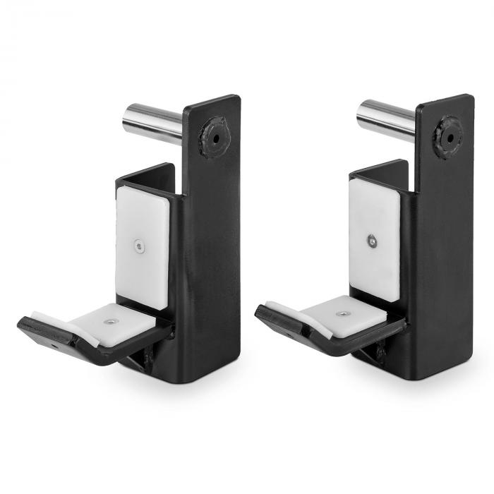 J-Hook Par J-Cups Acessórios rack meia de aço galvanizado preto