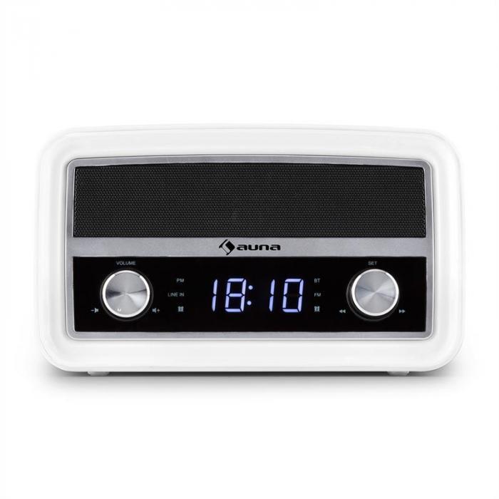 Caprice WH Retro-Radio Wecker Bluetooth UKW USB AUX weiß