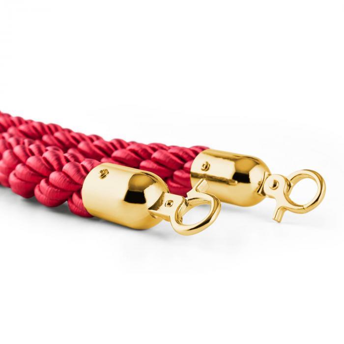 Golden Cord rajausköysi nyöri lisäosa lisävaruste kulta/punainen