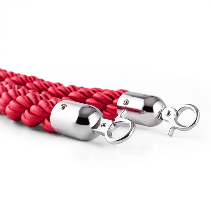 Silver Cord rajausköysi nyöri lisäosa lisävaruste hopea/punainen