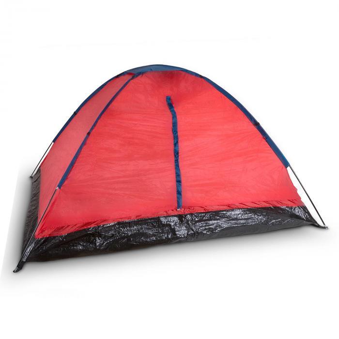 Cenote 4 Tenda Da Campeggio A Cupola 4 Persone Poliestere Arancio