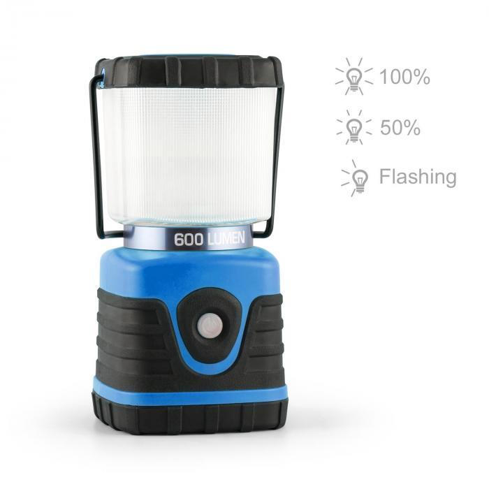 Yapus Lampada Da Campeggio LED 600 Lumi 150h 15 m Batteria Blu