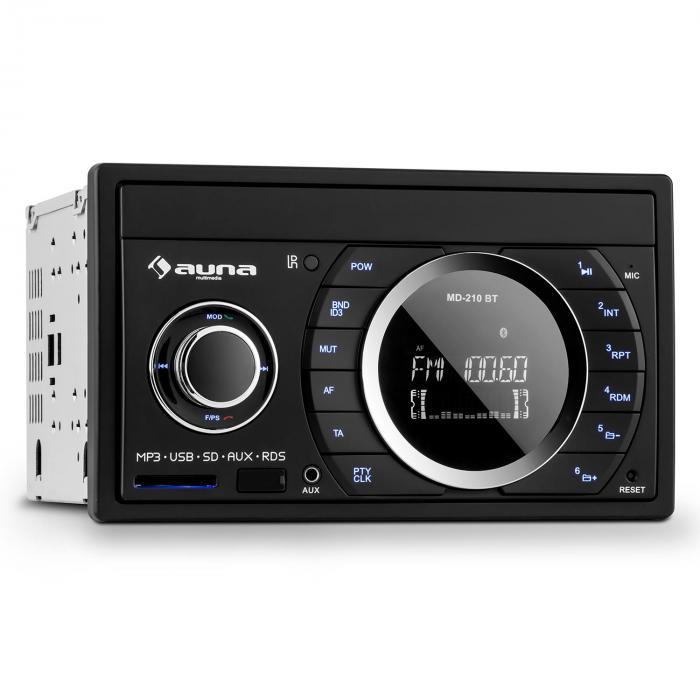 MD-210 BT RDS autoradio bluetooth USB SD MP3 microfoon 2-DIN 4x75W