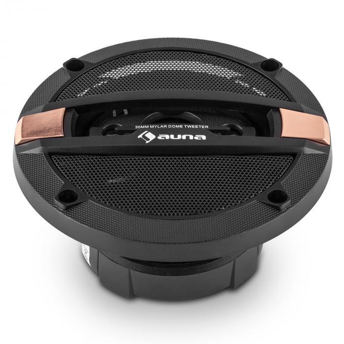 """CS410 4-Way 4"""" Coaxial Speakers 10cm 80W Carbon Bronze Design"""