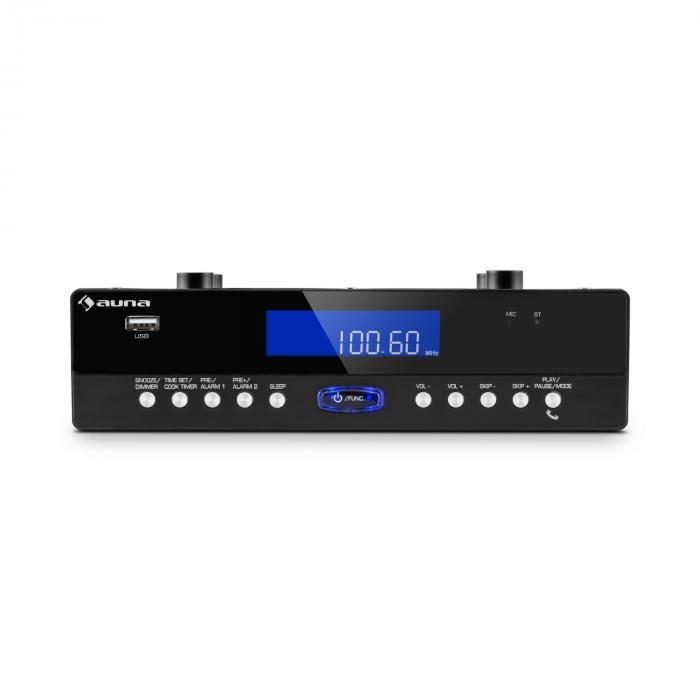 KR-100 BK Kitchen Radio Base Bluetooth Microphone USB MP3 Handsfree Black
