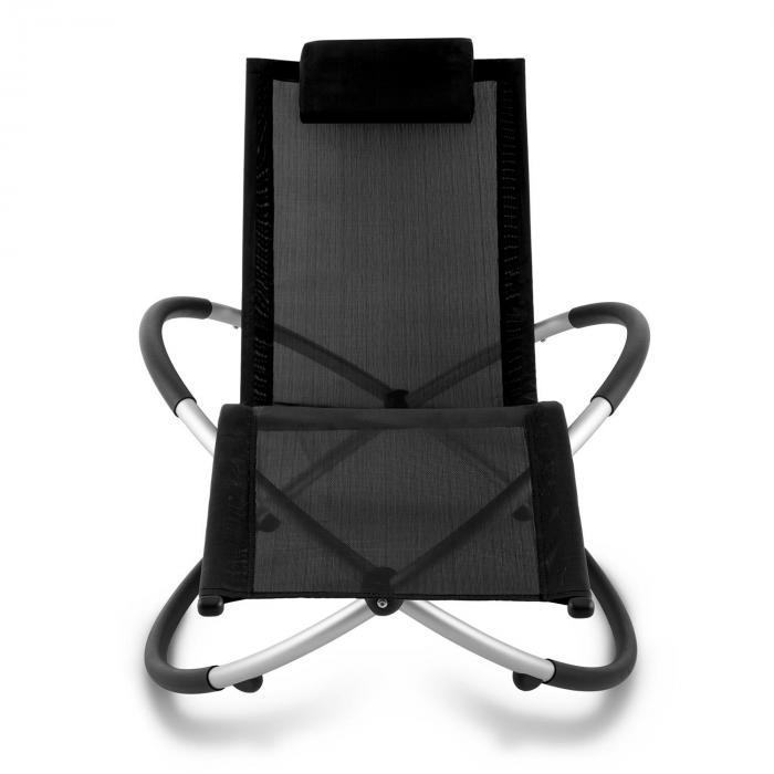 Chilly Billy Gartenliege Liegestuhl Relaxliege Aluminium schwarz