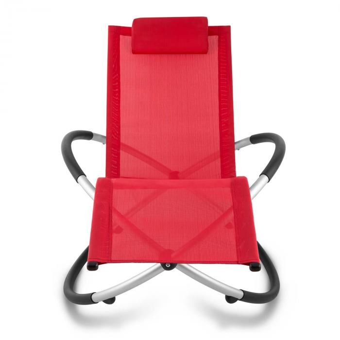 Chilly Billy Sdraio Relax da Giardino Alluminio Rosso