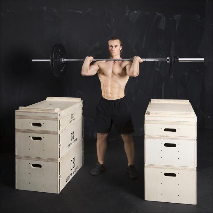 Indefea jerk block setti työntöihin puulaatikot 2 x 5 laatikkoa k