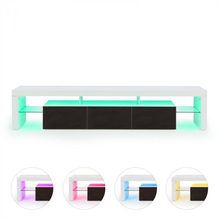 Orlando Lowboard TV-taso LED-tunnelmavalo värinvaihto