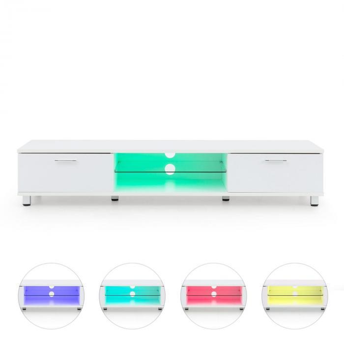 Keira Lowboard TV Board LED Colour Change White