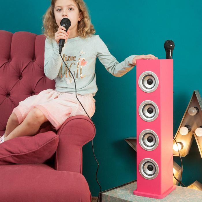 Karaboom PK Altoparlante Karaoke Bluetooth LED2 x Microfoni