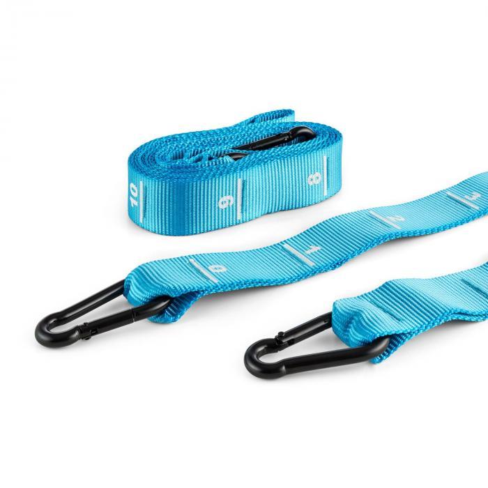 Addic nailonremmi 2 kpl metalliset karabiinikoukut kiplailustandardi sininen