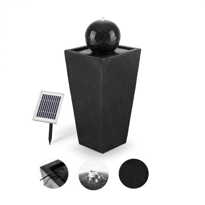 Königsbrunn Fountain Solar 200 l/h LED Battery Basalt Look