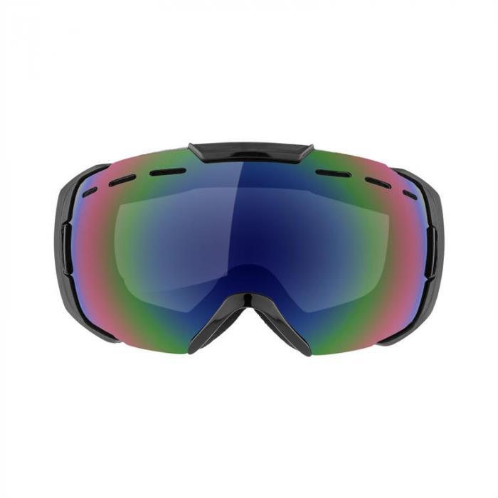 Snow View Occhiali da Sci E Da Snowboard Rivestimento Montatura A Mezzo telaio Neri