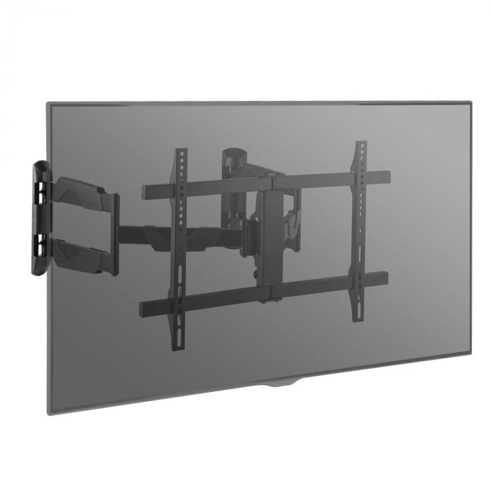 Sostegno a Parete TV Curved Angolo LED LCD orientabile girevole max.45kg