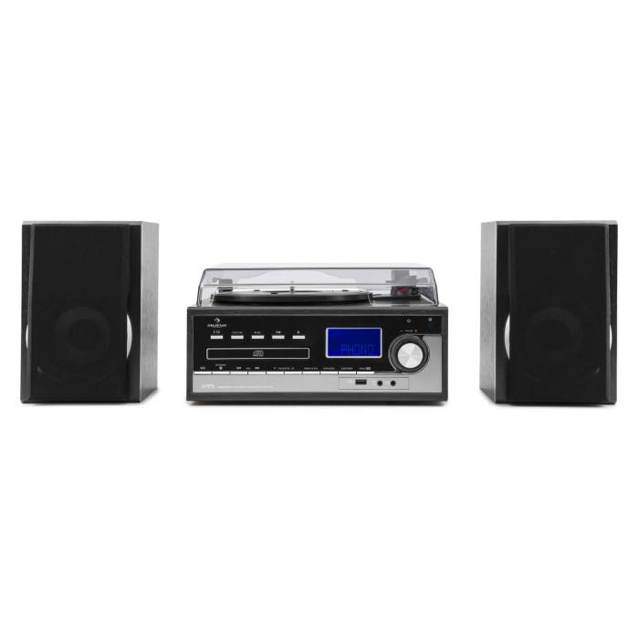 Blackwood Stereo System Record Player USB MP3 Encoding CD Cassette FM AUX
