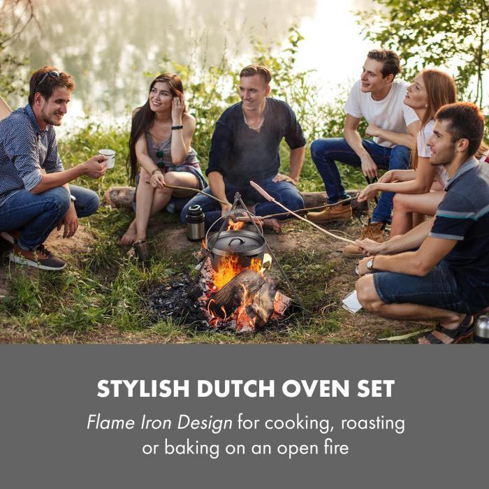 Hotrod 60 Dutch Oven garnek żeliwny BBQ 6 qt/5,7 l czarny