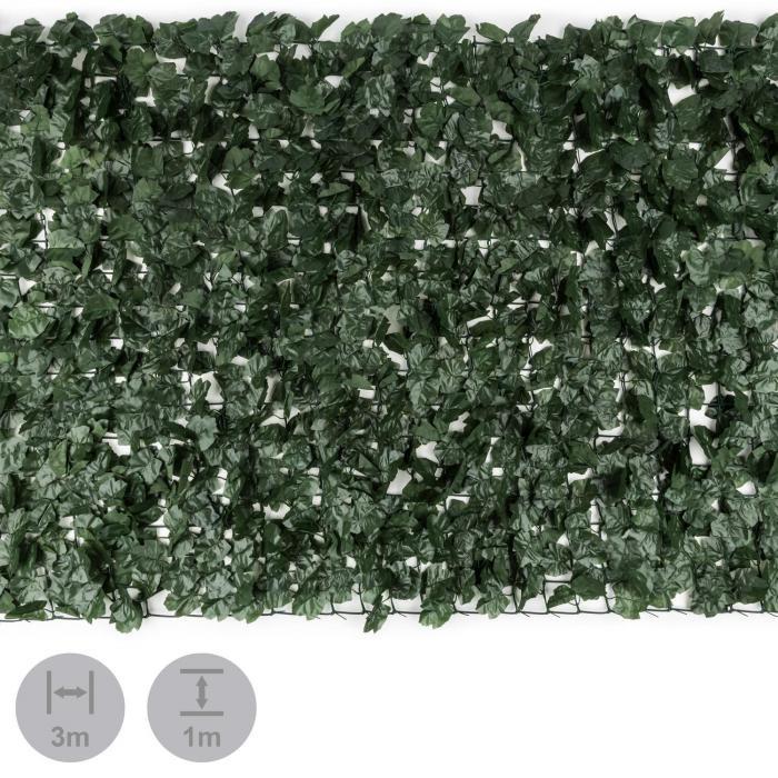 Fency Dark Ivy insynsskyddsstaket vindskydd 300x100 cm murgröna mörkgrön