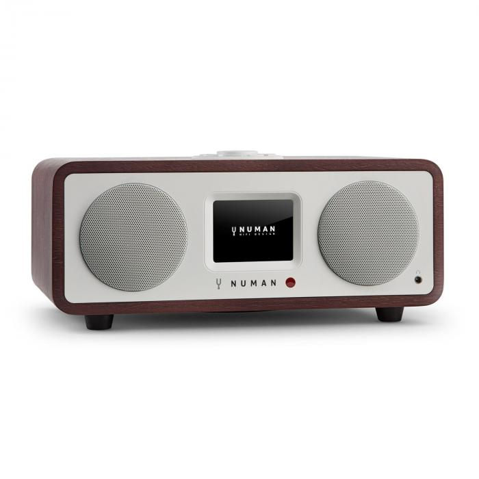One - 2.1 Design Internet Radio 20W Bluetooth Spotify Connect DAB + Mahogany