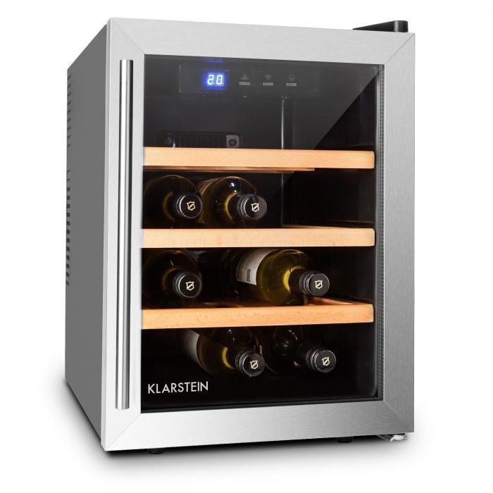 Reserva 12 Uno viinikaappi 9 pullolle 33 l ruostumatonta terästä LED