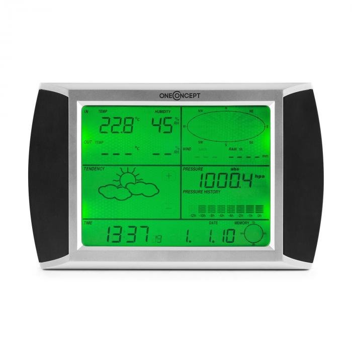 Beaufort Wetterstation Funk 100m LCD-Touch-Display Solar